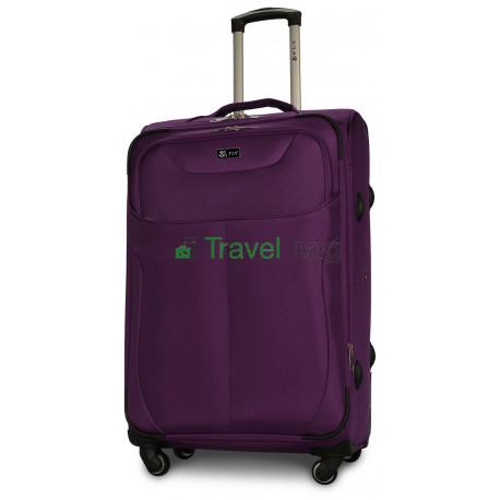Чемодан тканевый FLY 1807 большой фиолетовый 4 колеса 75 см
