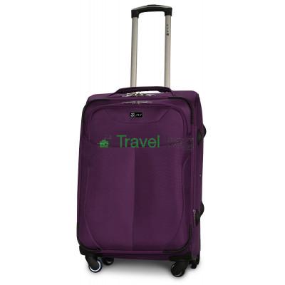 Чемодан тканевый FLY 1807 средний фиолетовый 4 колеса 66 см