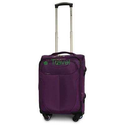 Чемодан тканевый FLY 1807 малый фиолетовый 4 колеса 55 см