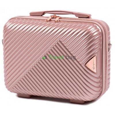 Кейс пластиковый WINGS WN01 золотисто-розовый
