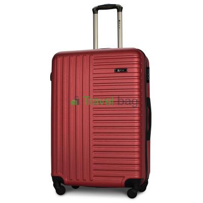 Чемодан пластиковый FLY 1096 большой бордовый 75 см