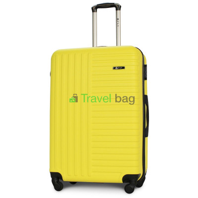 Чемодан пластиковый FLY 1096 большой желтый 75 см