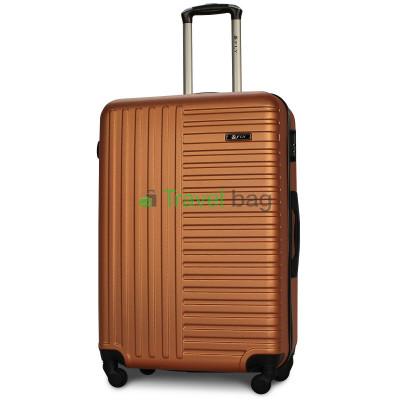 Чемодан пластиковый FLY 1096 большой оранжевый 75 см