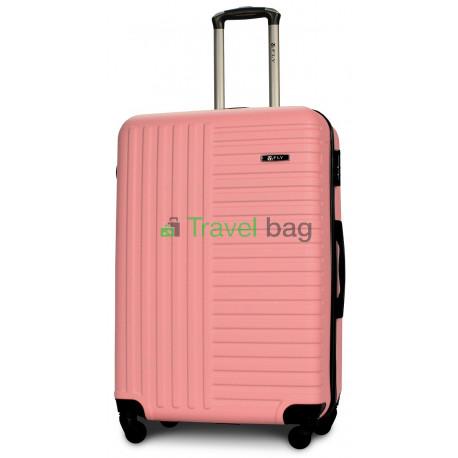 Чемодан пластиковый FLY 1096 большой светло-розовый 75 см