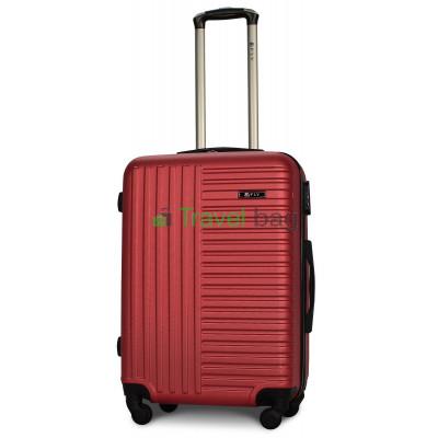 Чемодан пластиковый FLY 1096 средний бордовый 65 см