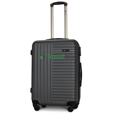 Чемодан пластиковый FLY 1096 средний графит (серый) 65 см