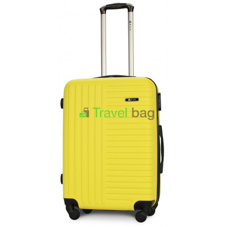 Чемодан пластиковый FLY 1096 средний желтый 65 см
