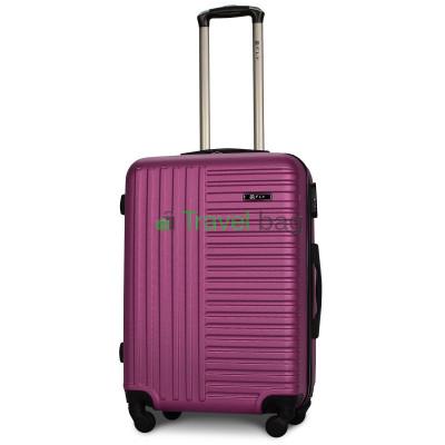 Чемодан пластиковый FLY 1096 средний темно-фиолетовый 65 см
