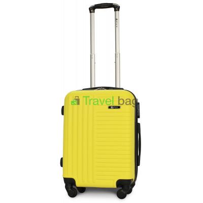 Чемодан пластиковый FLY 1096 маленький желтый 55 см