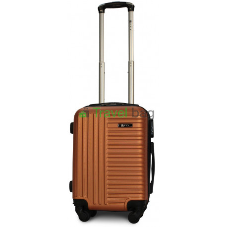 Чемодан пластиковый FLY 1096 мини оранжевый 51 см