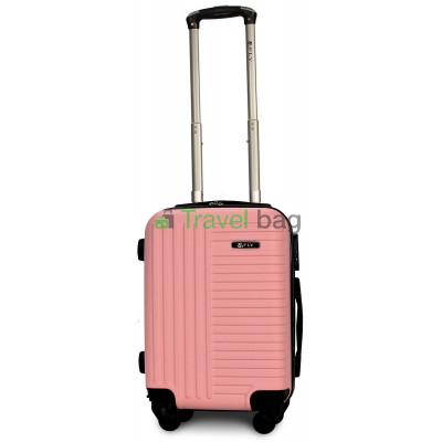 Чемодан пластиковый FLY 1096 мини светло-розовый 51 см