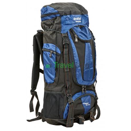 Рюкзак туристический каркасный DEUTER 60+10 литров нижний вход темно-синий
