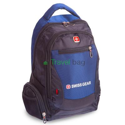Рюкзак спортивный SWISSGEAR 522 15л 38x24x15 черно-синий