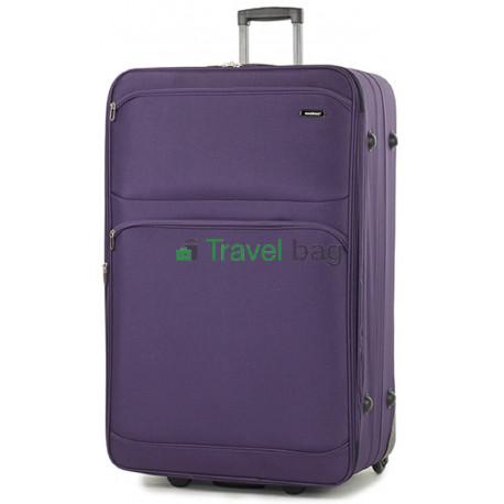 Чемодан тканевый MEMBERS Topaz очень большой фиолетовый 2 колеса