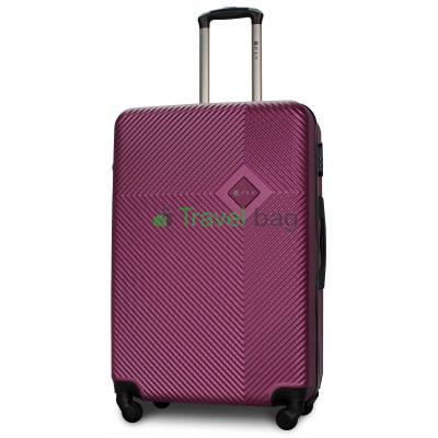 Чемодан пластиковый FLY 2130 большой темно-фиолетовый 75 см
