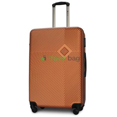 Чемодан пластиковый FLY 2130 большой оранжевый 75 см