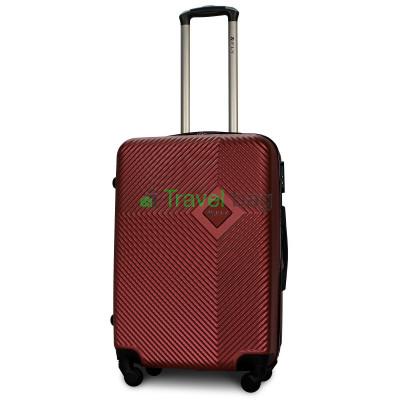 Чемодан пластиковый FLY 2130 средний бордовый 65 см