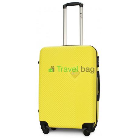 Чемодан пластиковый FLY 2130 средний желтый 65 см