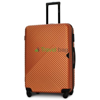Чемодан пластиковый FLY 2702 большой оранжевый 75 см