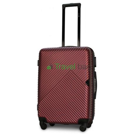 Чемодан пластиковый FLY 2702 средний бордовый 65 см
