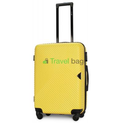 Чемодан пластиковый FLY 2702 средний желтый 65 см