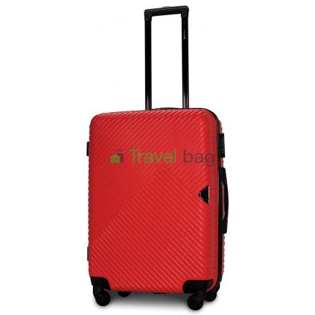 Чемодан пластиковый FLY 2702 средний красный 65 см
