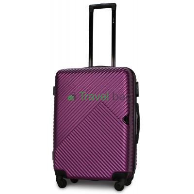 Чемодан пластиковый FLY 2702 средний темно-фиолетовый 65 см