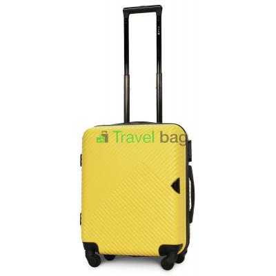 Чемодан пластиковый FLY 2702 малый желтый 55 см