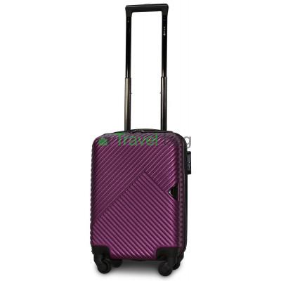Чемодан пластиковый FLY 2702 мини темно-фиолетовый 51 см