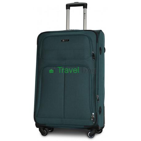 Чемодан тканевый FLY 8279 большой зеленый 4 колеса 75 см