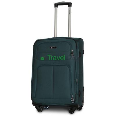 Чемодан тканевый FLY 8279 средний зеленый 4 колеса 66 см