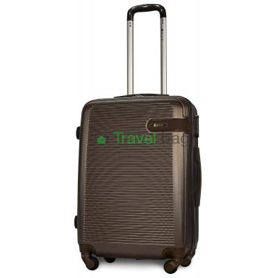 Чемодан FLY 1101 средний коричневый пластиковый 65 см