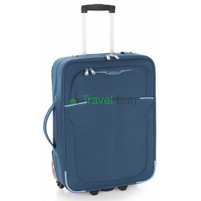Чемодан тканевый GABOL Malasia малый синий 2 колеса