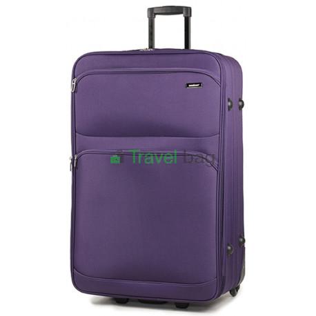 Чемодан тканевый MEMBERS Topaz большой фиолетовый 2 колеса
