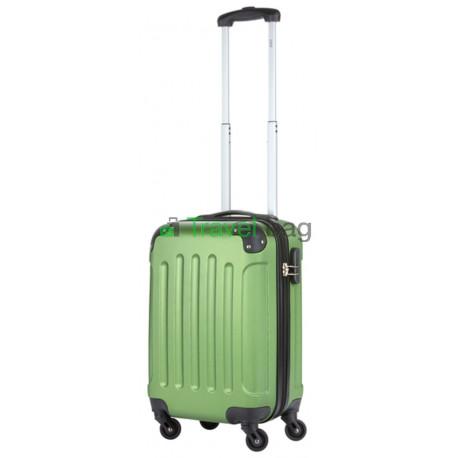 Чемодан пластиковый TRAVELZ Light малый серо-зеленый