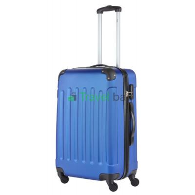 Чемодан пластиковый TRAVELZ Light средний синий