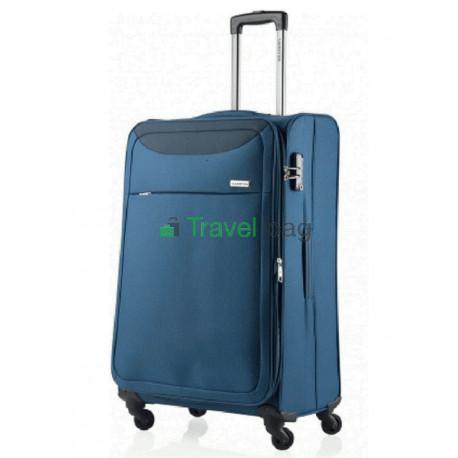 Чемодан тканевый CarryOn AIR большой синий 4 колеса