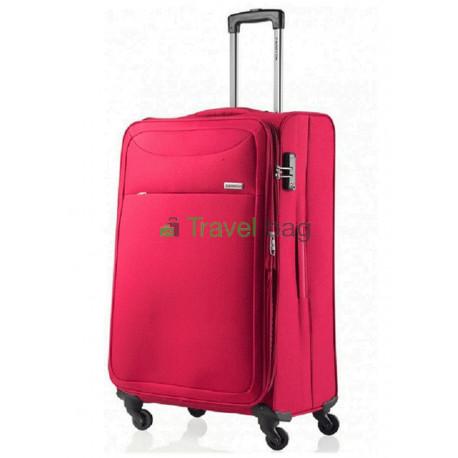 Чемодан тканевый CarryOn AIR большой красный 4 колеса