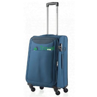 Чемодан тканевый CarryOn AIR средний синий 4 колеса