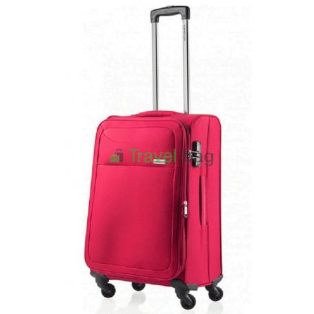 Чемодан тканевый CarryOn AIR средний красный 4 колеса
