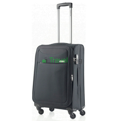 Чемодан тканевый CarryOn AIR средний черный 4 колеса