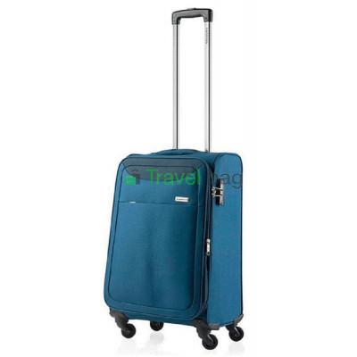 Чемодан тканевый CarryOn AIR малый синий 4 колеса