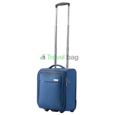 Чемодан тканевый CarryOn AIR Underseat малый синий 2 колеса