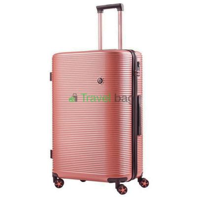 Чемодан пластиковый CarryOn Bling Bling большой золотисто-розовый