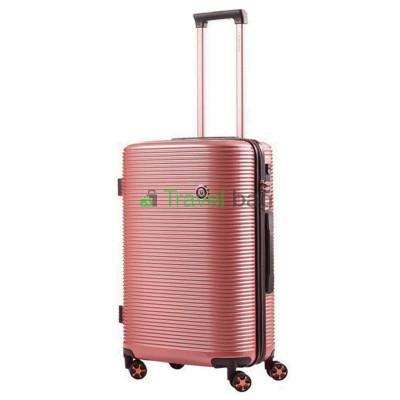 Чемодан пластиковый CarryOn Bling Bling средний золотисто-розовый