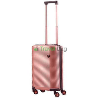 Чемодан пластиковый CarryOn Bling Bling малый золотисто-розовый