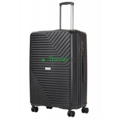 Чемодан пластиковый CarryOn Transport большой черный