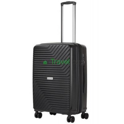 Чемодан пластиковый CarryOn Transport средний черный