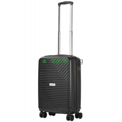Чемодан пластиковый CarryOn Transport малый черный