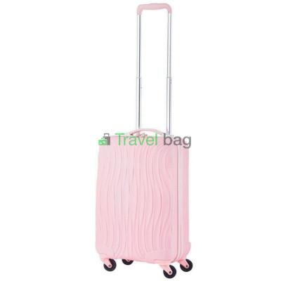 Чемодан пластиковый CarryOn Wave малый светло-розовый